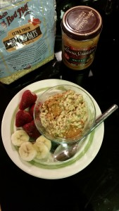 Pesnut Butter Overnight Oats