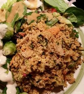 Kale Peanut Bowl with Couscous